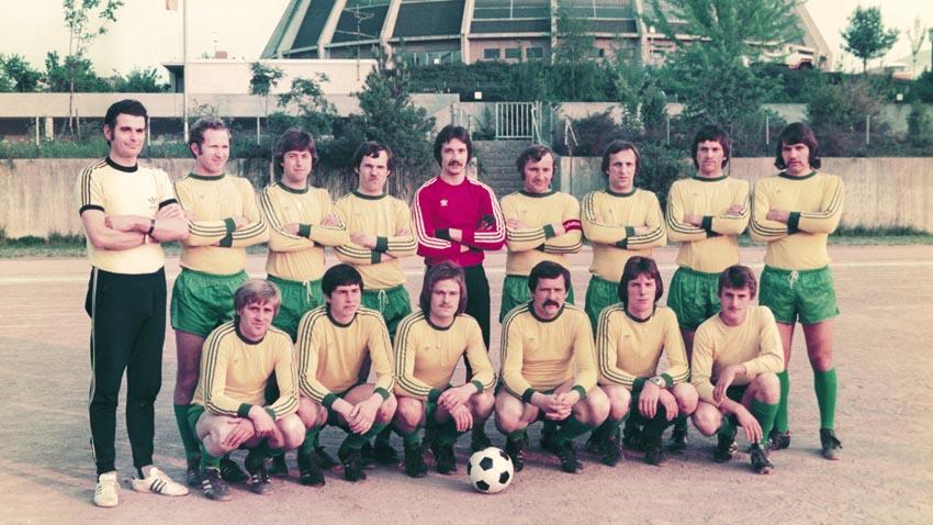Die 1. Mannschaft wird mit Trainer Herbert Kessel Meister der A-Klasse der Saison 1975/76 und steigt in die 2. Amateurliga Rheinhessen auf.