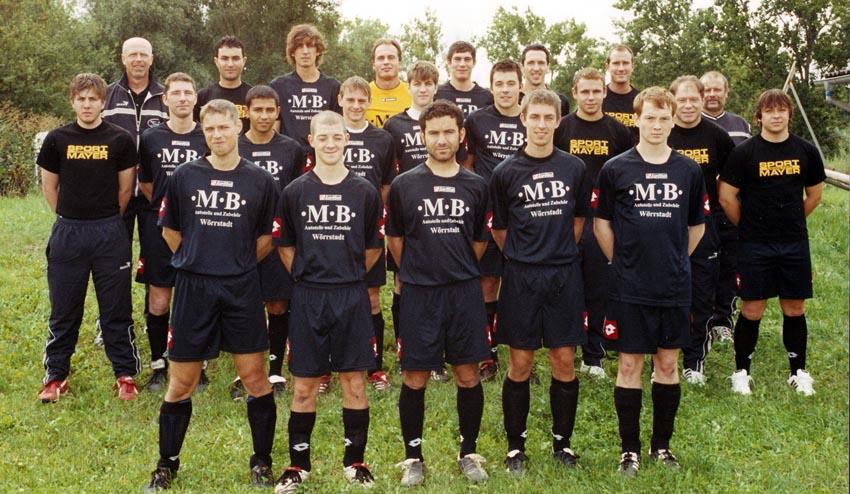 Mannschaftsbild der Aufstiegsmannschaft des VfR Nierstein 2005