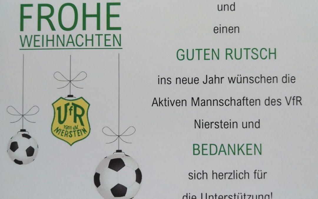 Frohe Weihnachten wünschen die Aktiven Mannschaften des VfR Nierstein